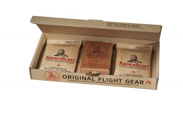 AirmenBeans Holzkiste plus 2 Nachfüllbeutel