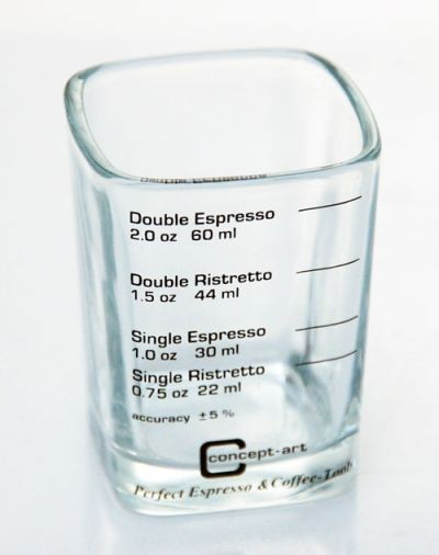 Espresso Maß-Glas