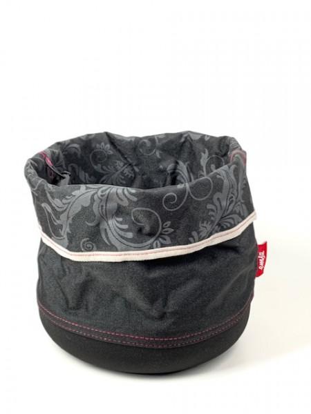 Geschenkkorb zum Selbstbefüllen Schwarz (25cm Durchmesser) von EMSA